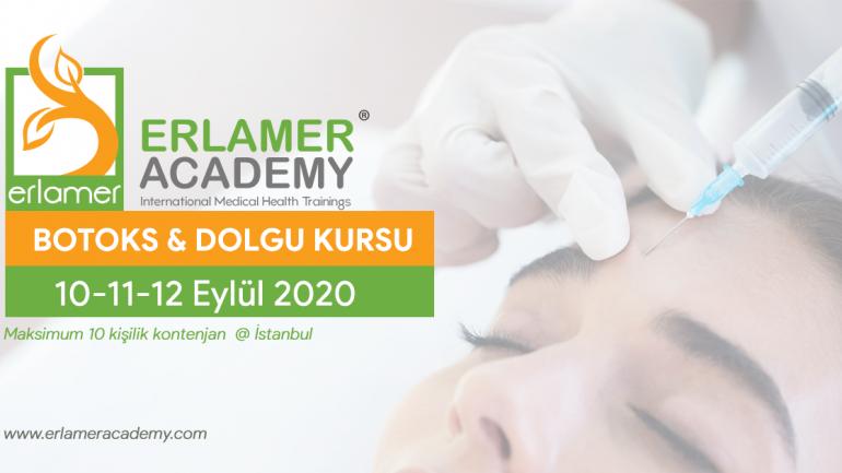 Erlamer Academy 10 Eylül 2020'de Botoks & Dolgu Kursu Düzenleyecek