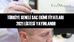 Türkiye Geneli Saç Ekim Merkezleri 2021 Güncel Fiyatları